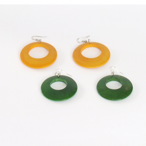 Wooden turned earrings KOL002